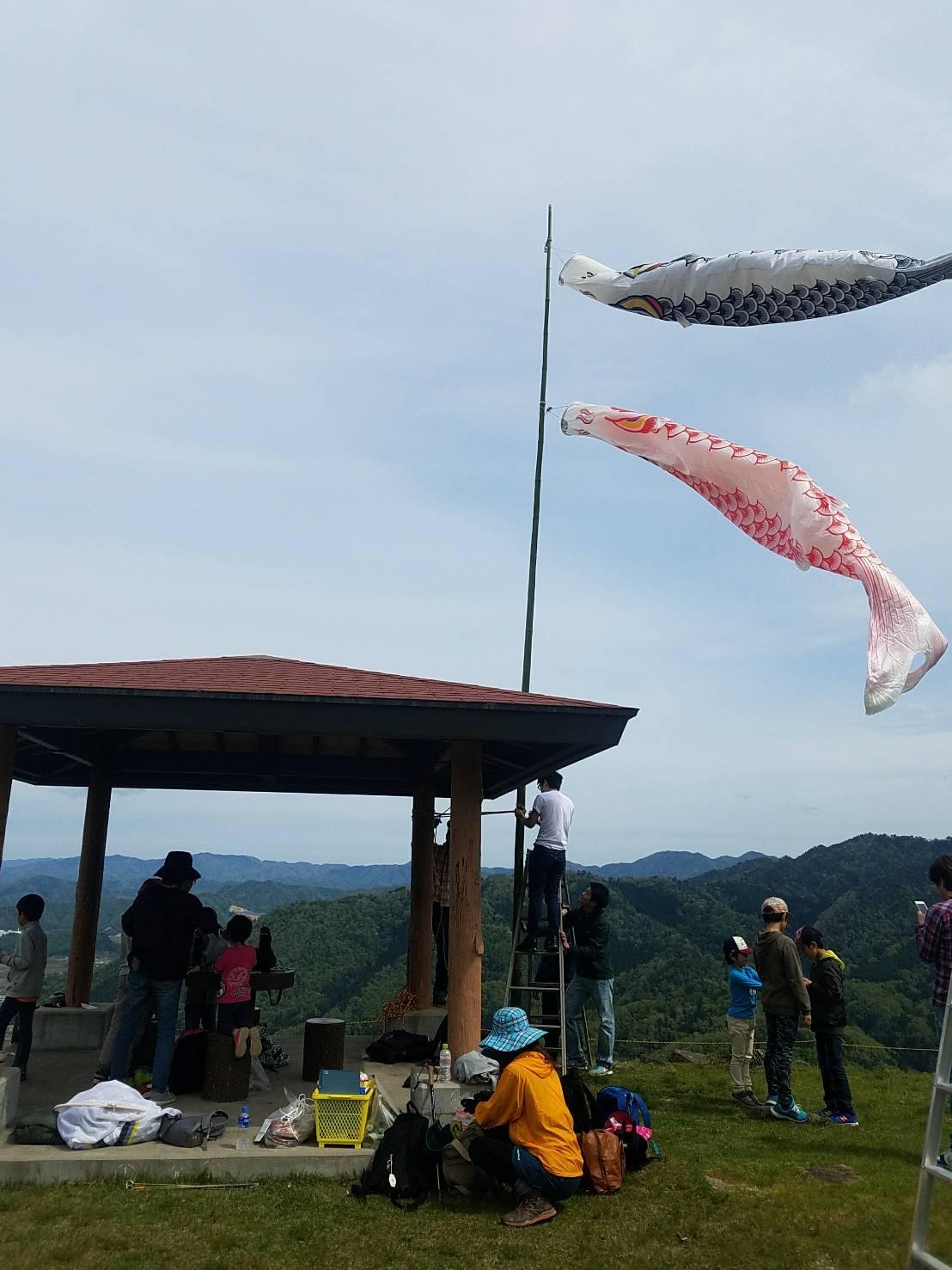 有子山 鯉のぼり