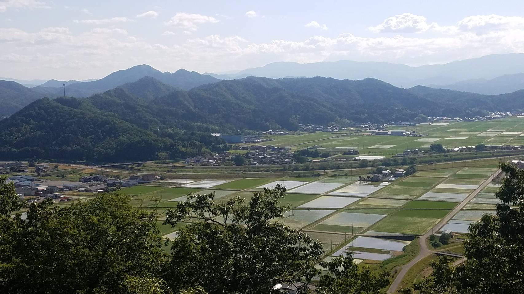 此隅山城跡 頂上からの眺望