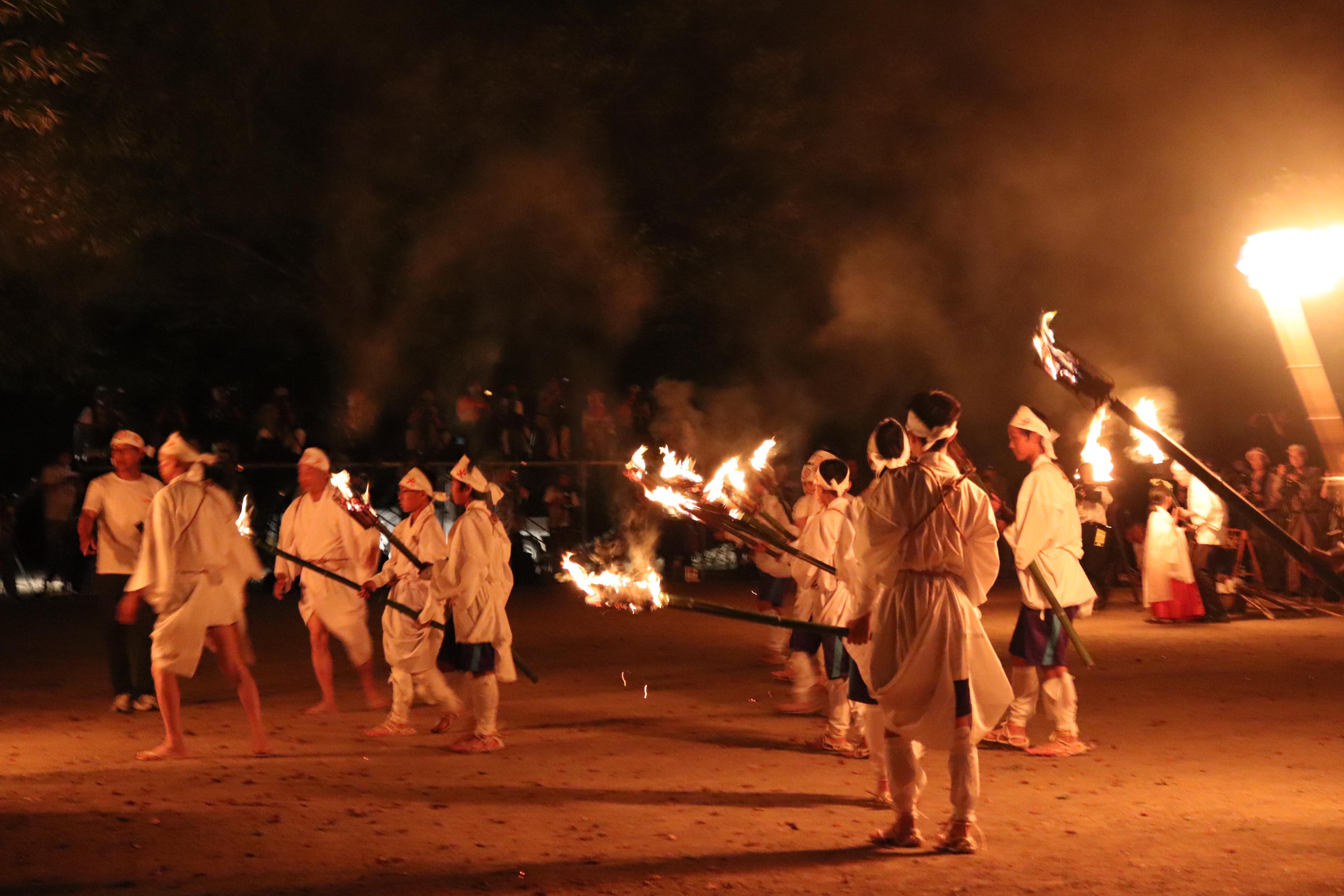 出石 愛宕の火祭り