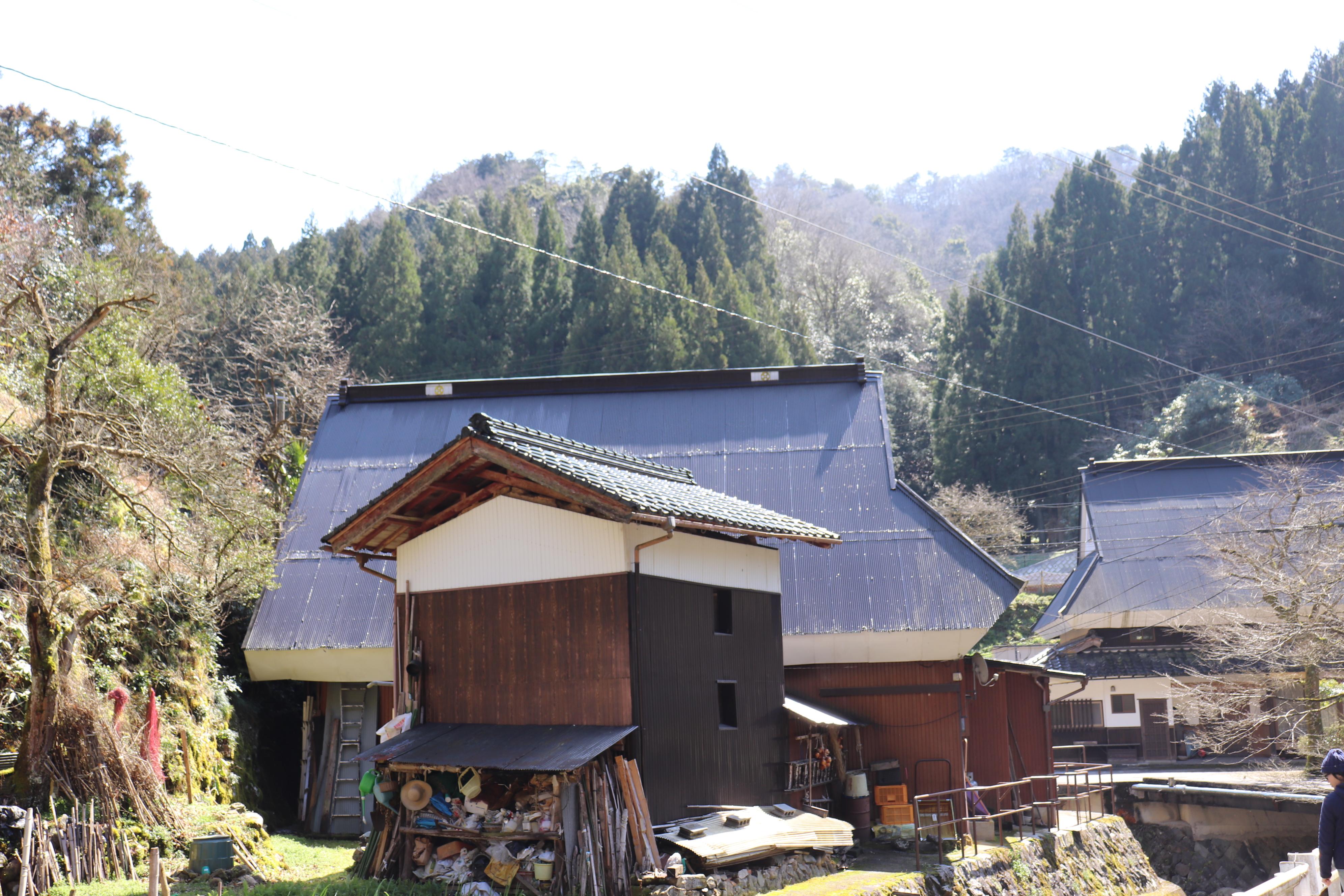 出石 奥山 村の風景