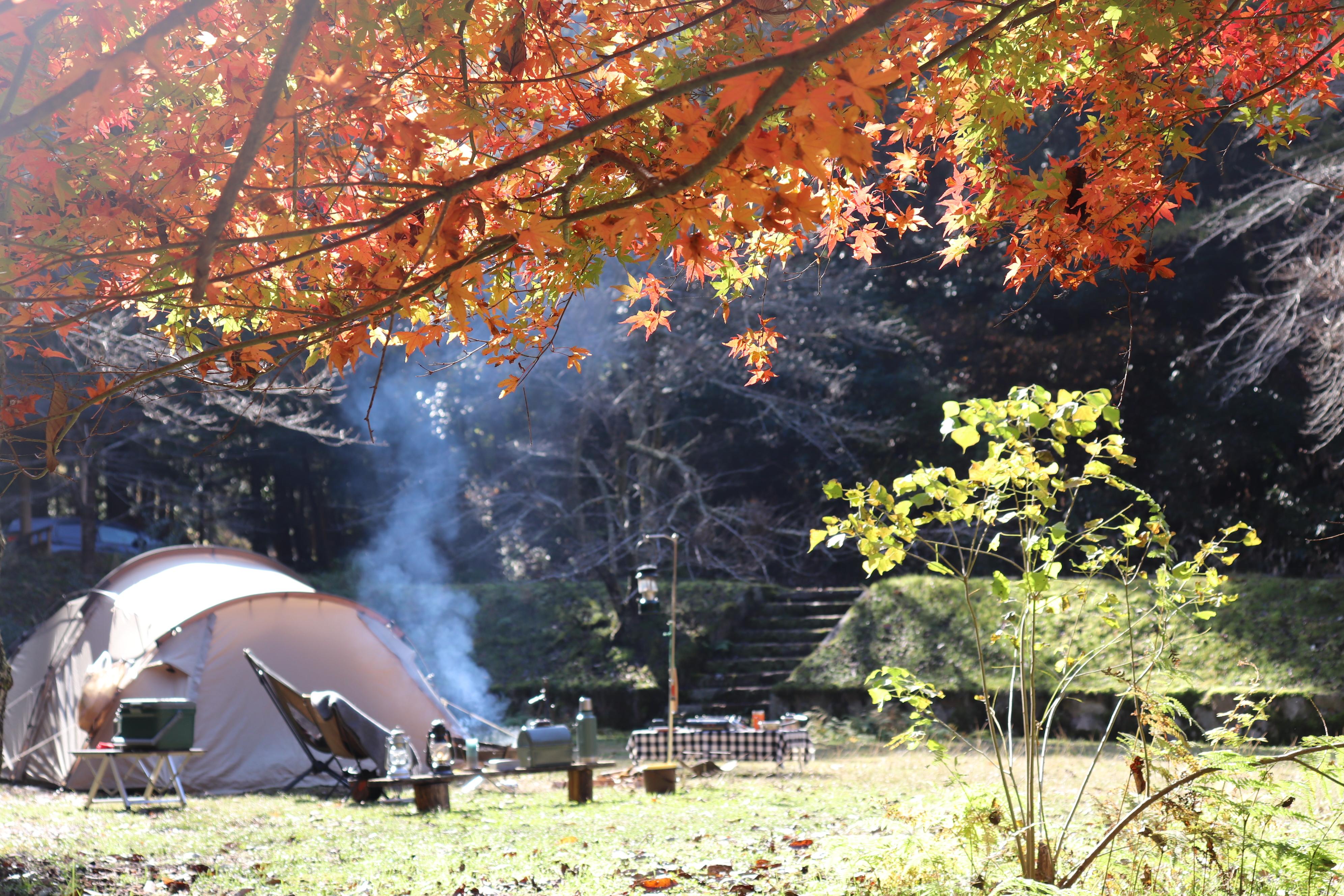 白糸の滝 出石 紅葉 キャンプ