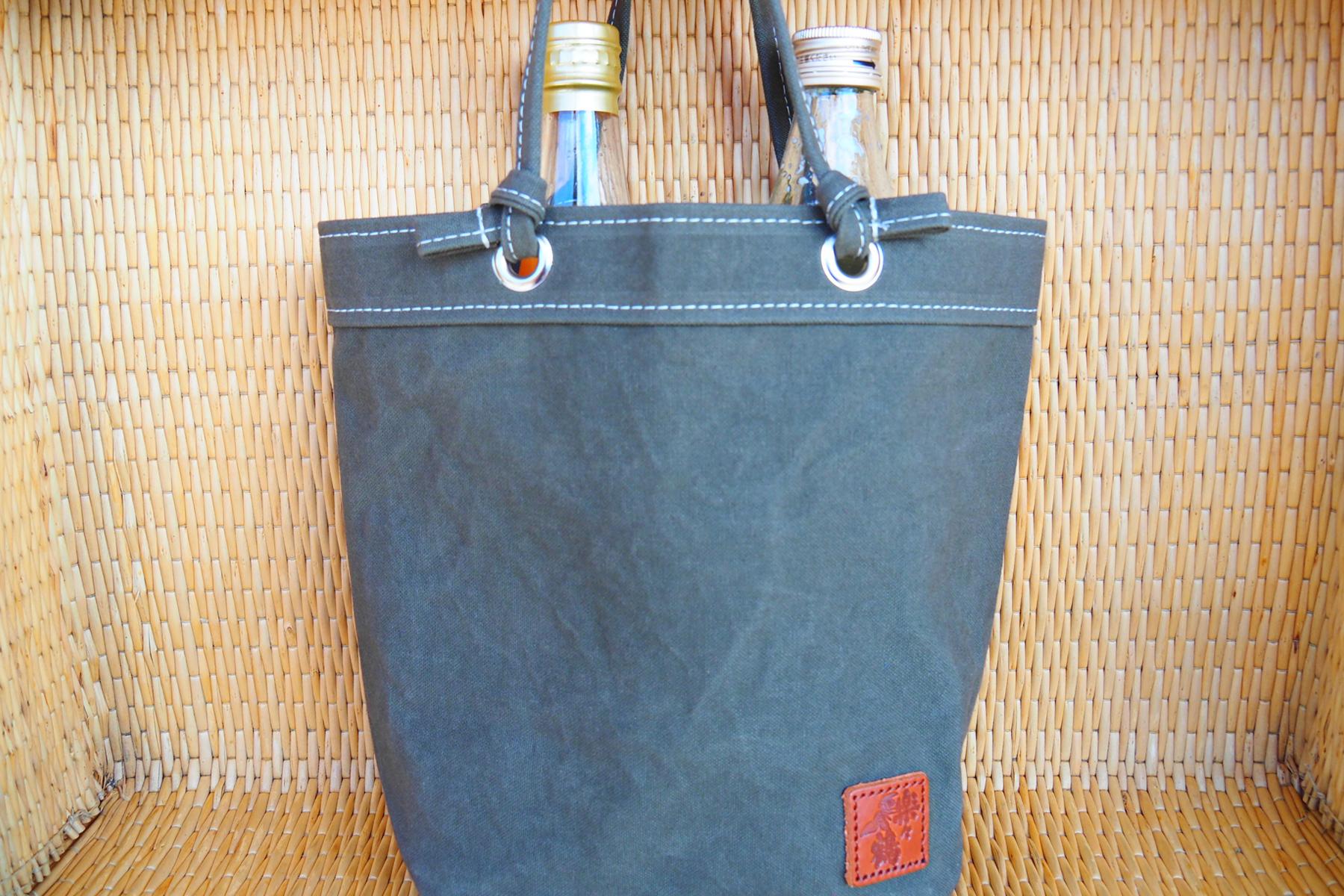 楽々鶴オリジナル帆布バッグ